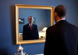 obama przy lustrze
