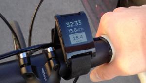 Smartwatch na rowerze